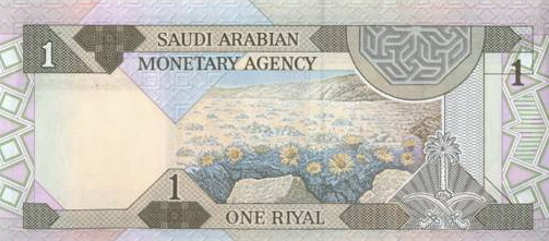 One Riyal Note Fourth Issue Printed During The Reign Of King Fahd